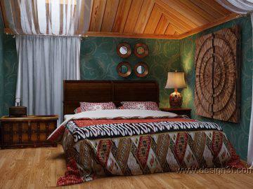 Этнический стиль в интерьере спальни