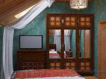 Экзотическая спальня для гостей