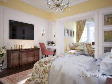 Французский стиль в дизайне интерьера спальни
