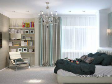 Большая спальня в стиле минимализм