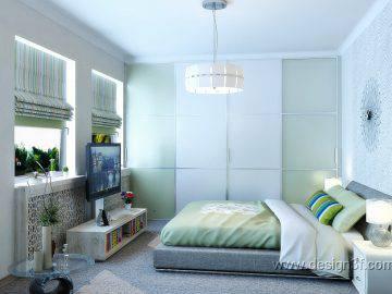 Большая светлая спальня для гостей