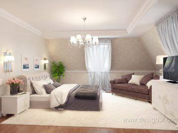 Интерьер комнаты в светлых тонах