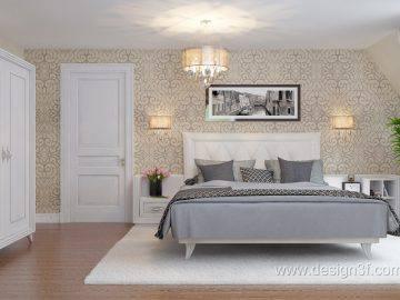 Современная спальня в доме