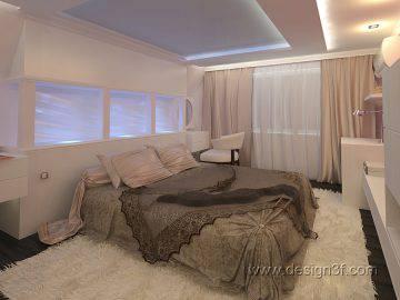 Дизайн интерьер спальни на мансардном этаже