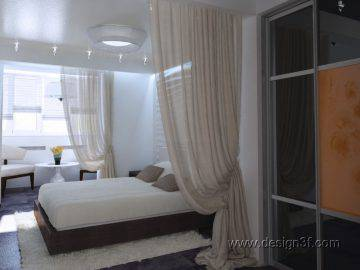 Большая спальня в современном стиле