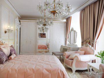 Розовая спальня интерьер