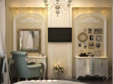 Небольшая спальня в классическом стиле