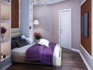 Современный дизайн интерьера спальни в шоколадных тонах
