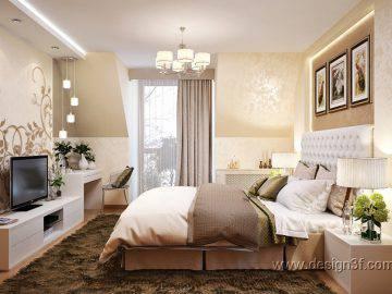 Красивый интерьер современной спальни