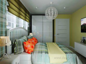 Интерьер спальни в стиле Икеа