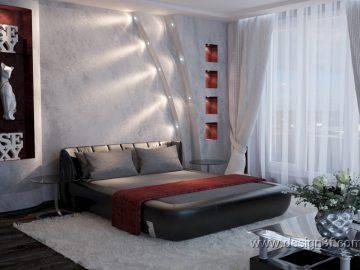 Идея дизайна современной спальни