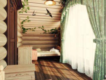 Дизайн спальни в деревянном доме