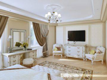 Дизайн интерьера спальни в стиле классика