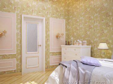 Красивая спальня в светлых тонах