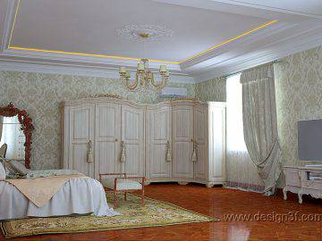Интерьер спальни в стиле дворцовой классики