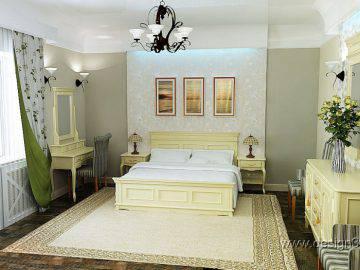 Интерьер светлой спальни в классическом стиле