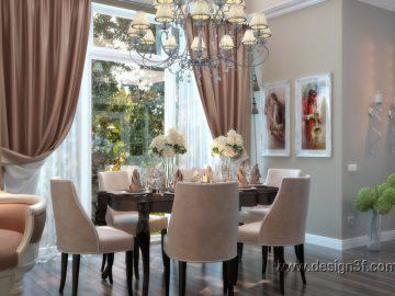 Красивая столовая в классическом стиле