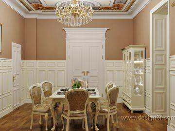 Дизайн интерьера столовой классика