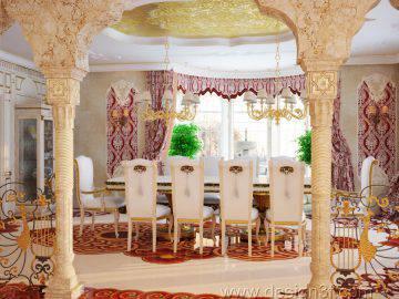 Интерьер столовой в восточном стиле