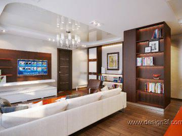 Большая гостиной в современном стиле