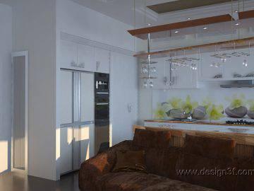 Небольшая студия-кухня в квартире