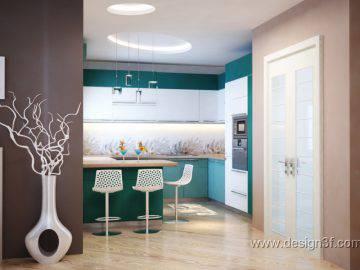 Яркая кухня в современном стиле