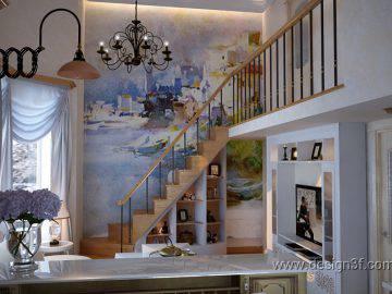 Современная идея дизайна гостиной с кухней