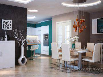 Яркий и стильный интерьер квартиры