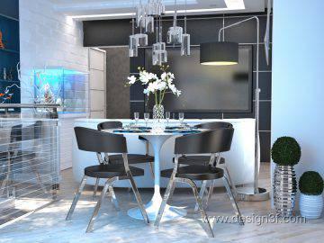Дизайн интерьера квартиры в стиле хай тек