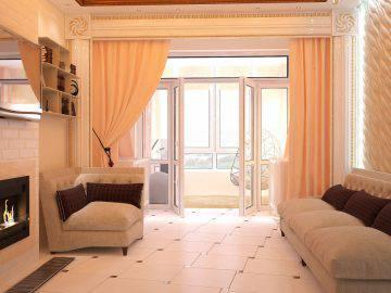Интерьер однокомнатной квартиры в стиле ар деко