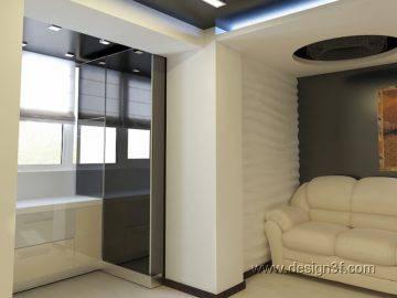 Проект гостиной в современном стиле