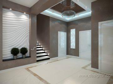 Современный интерьер студии  в большом доме