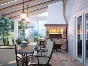 Дизайн интерьера дома из бруса
