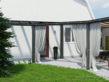 Открытая терраса в современном стиле