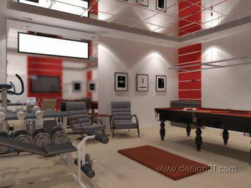 Современный тренажерный зал