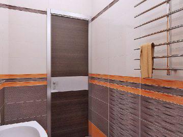 Оранжевый цвет в ванной комнате