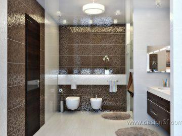 Большая ванная комната в доме