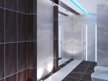 Современная ванная комната в доме