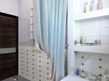 Небольшая ванная в классическом стиле