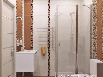 Небольшая ванная комната в современном стиле