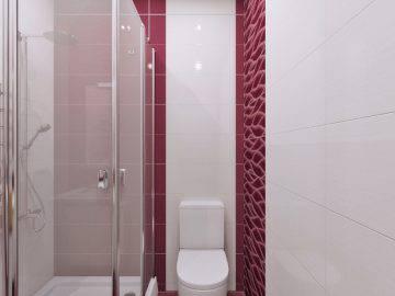 Малиновый цвет в ванной комнате