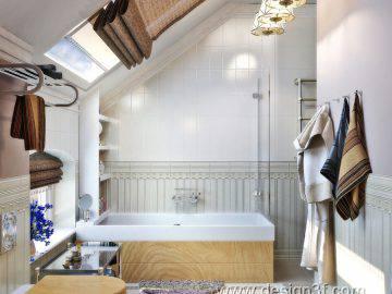 Ванная комната на мансардном этаже