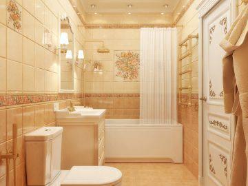 Интерьер классической ванной комнаты