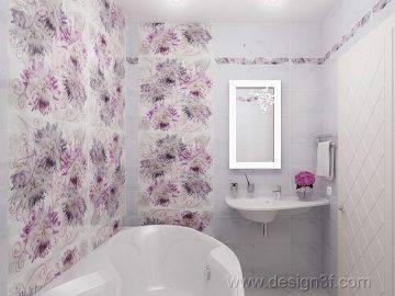 Современная ванная комната в квартире
