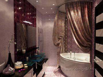 3д проект ванной комнаты в квартире