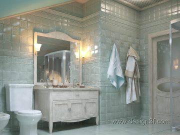 Светло-зеленый цвет в интерьере ванной