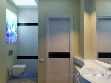 Интерьер ванной комнаты с 3д полами