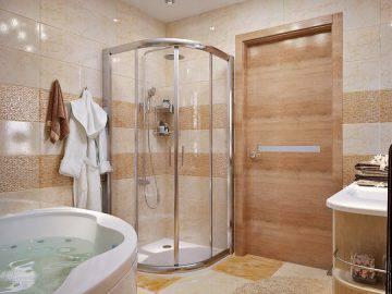 Стильный дизайн ванной комнаты в современном стиле