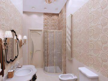 Дизайн ванной комнаты в стиле арт-деко