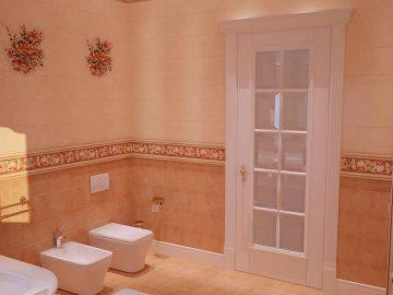 Современная классика в интерьер ванной комнаты